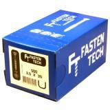 Саморезы для массивной доски и деревянной обшивки Fasten Tech 3.5х35 мм (500 шт)